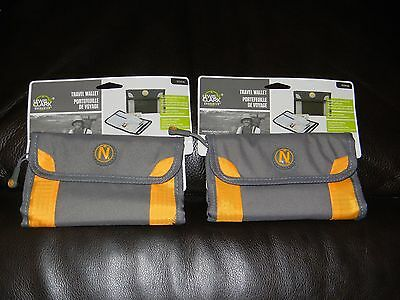 New LOT 2 Lewis & Clark Travel Passport ID Zippered Secure Wallet 93WAL N