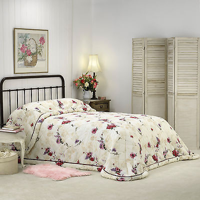 Bianca Madeline Burgundy Bedspread Set King|Queen|Double|King Single|Single Size