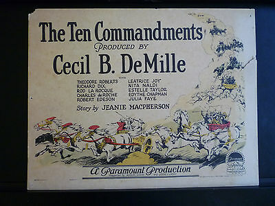 1923 TITLE LOBBY CARD FOR C B DeMILLE 'S THE TEN COMMANDMENTS - RARE SILENT