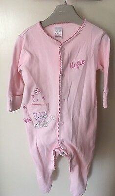 NEXT Baby Girls Sleepsuit / Babygrow Bundle - 3-6 Months - Lovely Condition