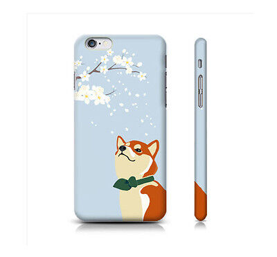 iPhone Samsung LG Shiba Inu Dog Character Hard Cover Case Cute Cellphone Cover