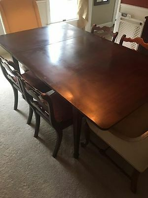 Antique drop leaf dining table mahogany, or sideboard, serving, Watertown slide