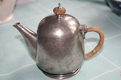 Vintage Tudric little tea-pot.  Pewter.  Made for Liberty's