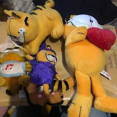 Garfield Soft  Toys  X4 Items See Listings