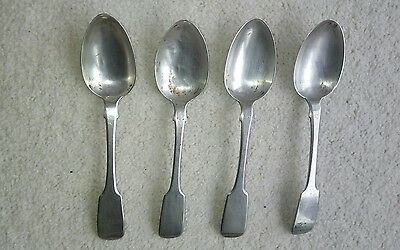 Solid Silver Tea Spoons By John Golding