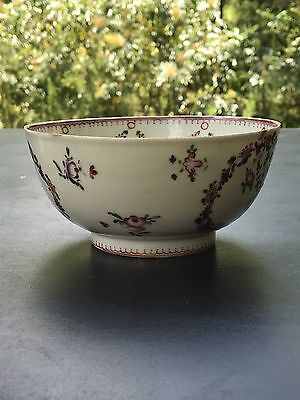 Antique Chinese Export Porcelain Bowl Famille Rose