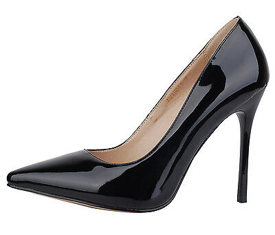 Verocara Women's High Thin Heel Pointed Toe Classic Style Dress Pump Shoe Size 8