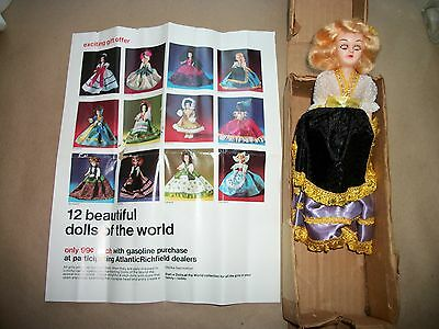Dolls of World Atlantic Richfield ARCO Gas Ad Promotion & NEW Sweden Doll 1960s