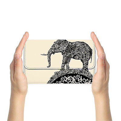 Rfid Blocking Anti Scan Travel Passport Wallet Purse Pouch Cover Elephant