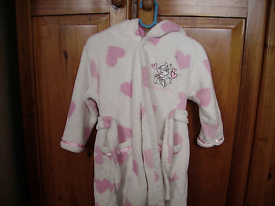 Disney babies fleece dressing gown 9-12 months white/pink