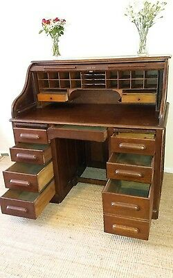 Vintage/antique Oak Roll Top Desk
