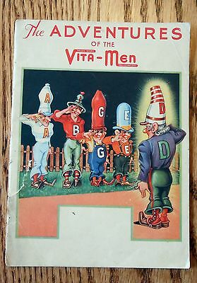 1935 Promotional Irradiated Vitamin D Milk Cartoon Book - Adventures of Vita-Men