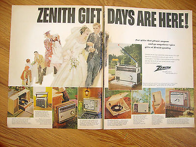 1966 Zenith Radio TV Stereo Ad  Gift Days are Here
