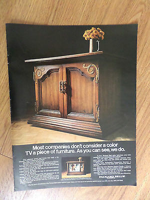 1969 Packard Bell Color Television Set Ad CP-964 Sorrento Mediterranean Imperial