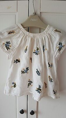 Girls NEXT Embroided Top age 18-24 months