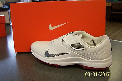 NEW NIKE TW 17 TIGER WOODS GOLF SHOES White/Black 10 M WATERPROOF 880955 100