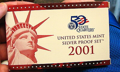 2001-S US. Mint Silver Proof Set with Box and COA----10 Coins