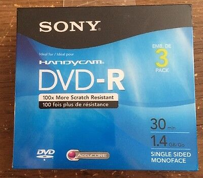Sony Handycam DVD-R 3 Pack 30min 1.4gb Mini DVD