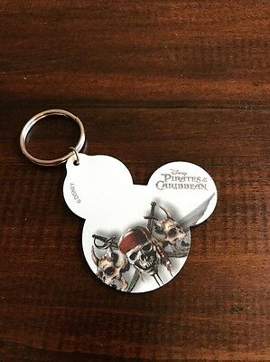 Disney Parks Pirates of The Caribbean  Leather Keychain New