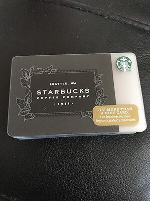 STARBUCKS 2016 New GIFT CARD Black Silver Company 1971 Logo Lot Of 20