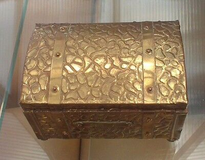 Vintage Brass Tea Caddy / Chest