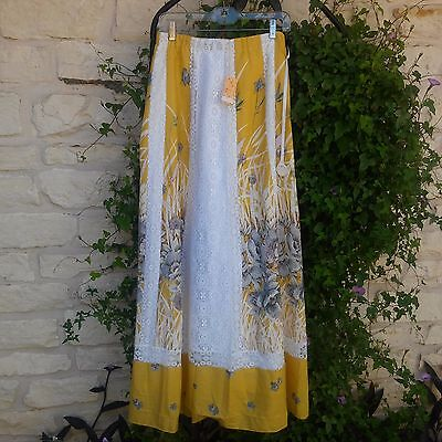 Vintage Never Worn Tumbleweeds of Phoenix Yellow and Lace Long Skirt