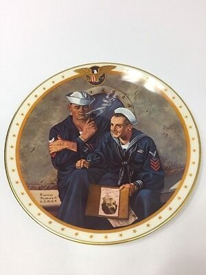 """""""Reminiscing"""" by Norman Rockwell Home of the Brave Collectors Plate"""