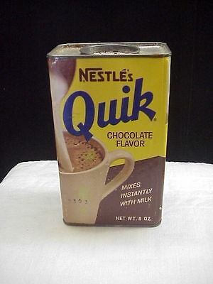 Vintage Nestle's Quik Chocolate Flavor 8 oz., Half Pound Tin