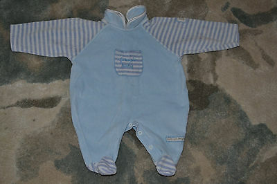 0-3 month baby boutique velour sleepsuit boys