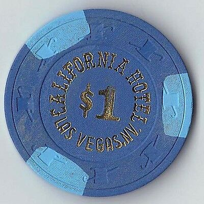 $1.00 Chip from the California Hotel  in Las Vegas Nevada