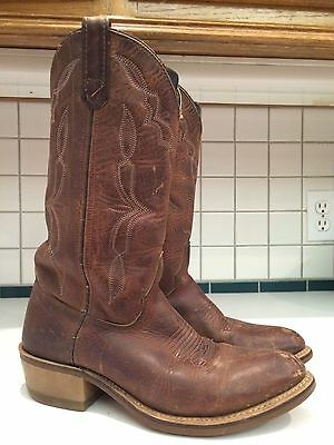Men's Thick Leather Western Cowboy Work Boots Size 7 D Style 5463 (Lot A)