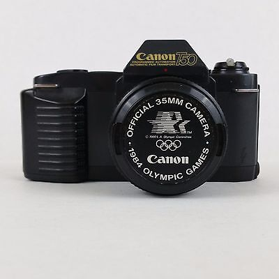 Canon T50 Camera Official 35mm Camera 1984 Olympics 50mm Lens Vintage