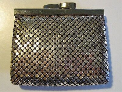 Vintage Silver Mesh Coin Purse - Whiting & Davis (?) Beautiful Mint Condition