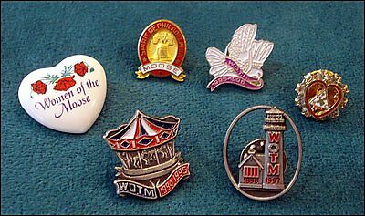 WOTM Women of the Moose Fraternal Order LOOM Lapel Hat Scatter Pins - 6 Pieces