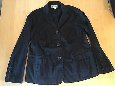 maternity blazer jacket size S small motherhood black button
