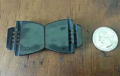 Antique  Vintage Black Art Deco belt buckle GERMANY