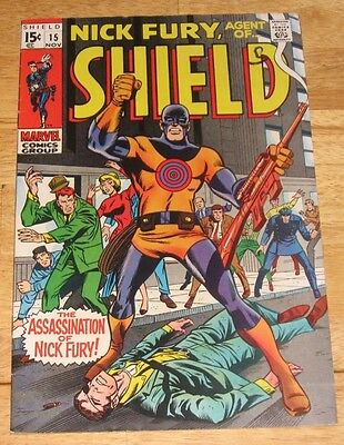 Nick Fury, Agent of S.H.I.E.L.D. #15 Silver age (Marvel Comics,1969) Avengers