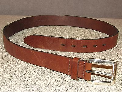 Vintage Brown Leather Jeans Belt 34 Made in the USA