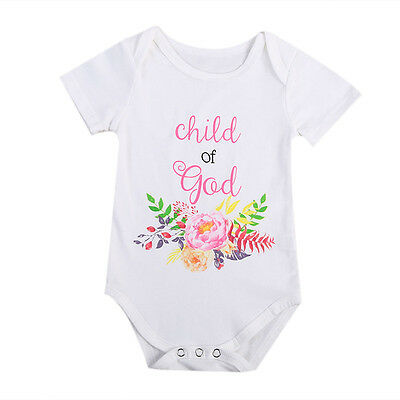 US Stock Newborn Baby Girl Boys Short Sleeve Romper Jumpsuit Summer Outfits 0-6M