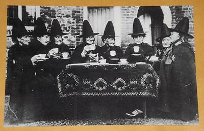 Witches Ritual Weird Spell VINTAGE PHOTO Strange Spooky Odd Print T52