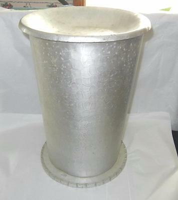 "Rare Unusual 15 1/4"" Wendell August Forge Aluminum Umbrella Stand Ashtray & Lid"