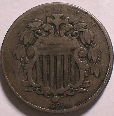 1866 With Rays Shield 5C