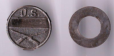 US Army Infantry equipment unit mark ID discs, unissued late WWI 1920's dog tag