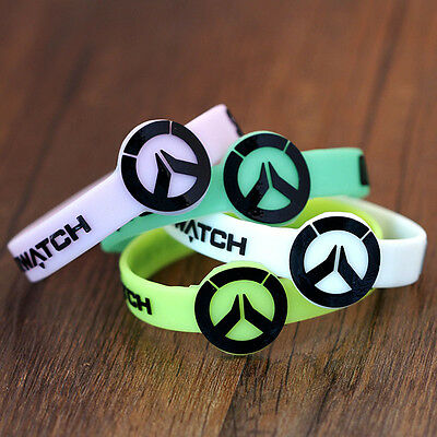 Overwatch Sign Silicone Rubber Luminous Wristbands Bangles Cosplay Jewelry Gift