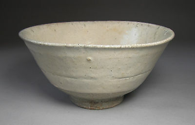 A Very Rare/Fine Korean Punchong White Slip Over-Coated Tea Bowl-16th C.: