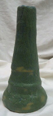"early & famous art pottery VASE by the OVERBECK sisters  6 1/2"" rare green glaze"