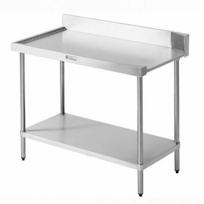 Simply Stainless Steel Dishwasher Inlet Bench 1200x700x900mm, Left SideSimply St
