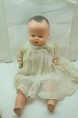 Vintage Horsman Doll Baby Buttercup Tin Eyes Cloth Body Composition Head Hc