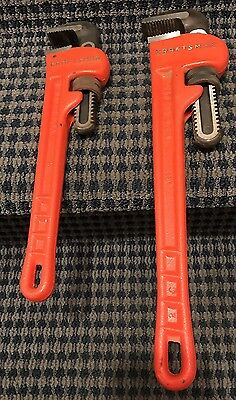 """Craftsman (Lot of 2) 18"""" & 14"""" PIPE WRENCH 51652 & 51653  Clean! Made In The USA"""