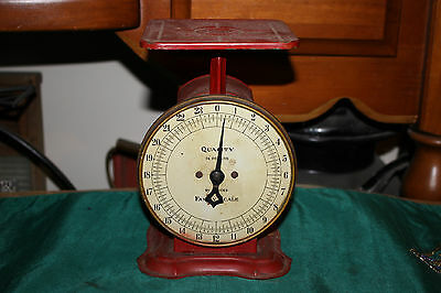 Antique Quality Brand 24 Pound Family Scale-Country Decor Scale-Americana